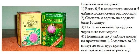 Масло расторопши в капсулах - польза и вред. Как принимать?