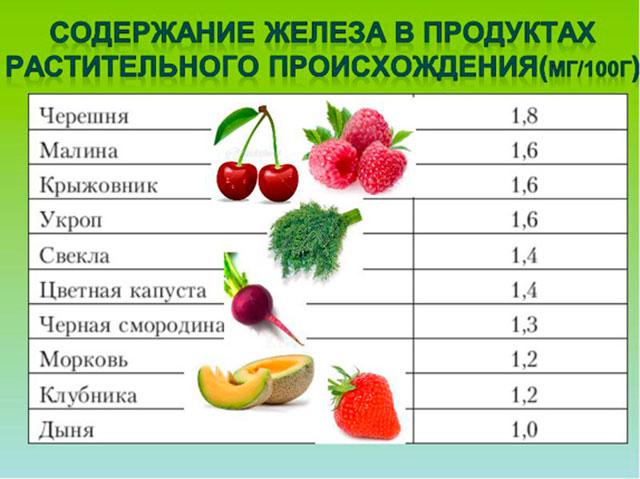 Что повышает гемоглобин в крови: 20 продуктов + 7 препаратов железа